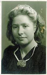 Oma Martzen toen ze nog jong was