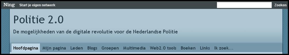 screenshot van de politie 2.0-ning