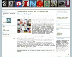 screenshot van 23dingen-website