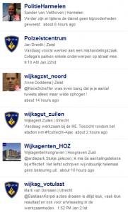 overzicht van wijkagenten van Politie Utrecht