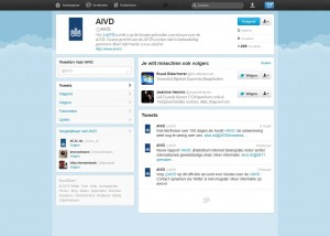 Twitter-account van de AIVD