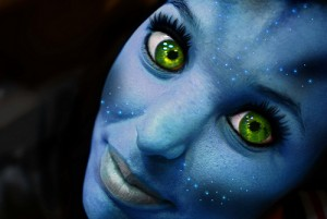 vrouwelijk figuur uit de film Avatar