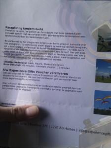 voucher paragliding tandemvlucht