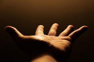 uitgestoken hand