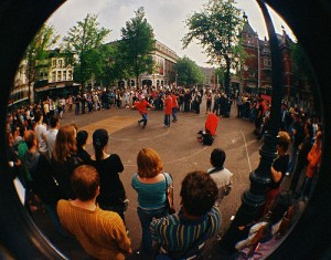 straatartiesten in Amsterdam