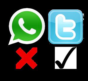 logo Whatsapp en Twitter