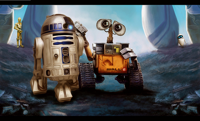 wall-e and r2d2