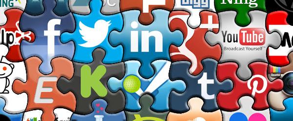 puzzel met logo's van social media tools